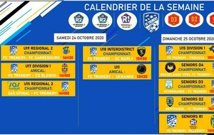 Le planning COMPETITION du week-end